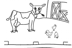Cow Farm Animals Free  Coloring Pages | Crayon Action Coloring Pages