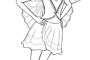 Barbie Mariposa Coloring Pages | fairy princess | Movie | #1