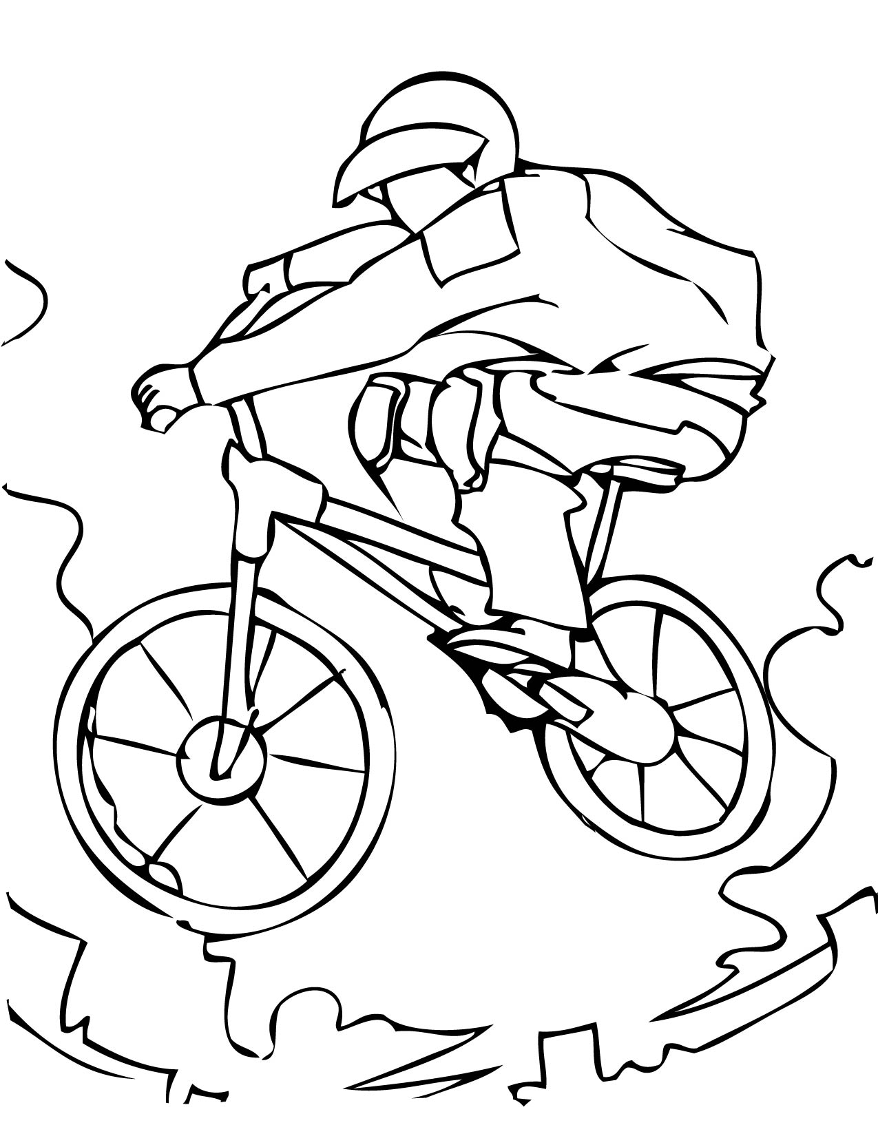 BMX Bike Coloring Page Letscoloringpages Nice
