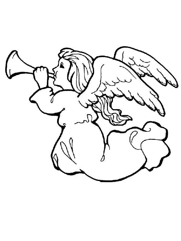 Free Angel Coloring Pages , Letscoloringpages.com , Angel #2