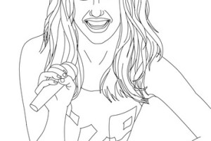MILEY CYRUS - miley cyrus coloring pages - Miley songs - #10