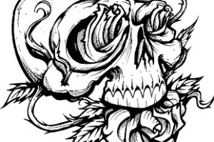 Skull tattoo | tattoos | tattoo | Skull coloring page | Halloween | printable | #10