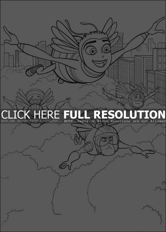 Best Bee Movie Coloring Pages