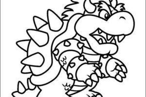 Big Dragon Mario coloring pages | Mario Bros games | Mario Bros coloring pages | color online