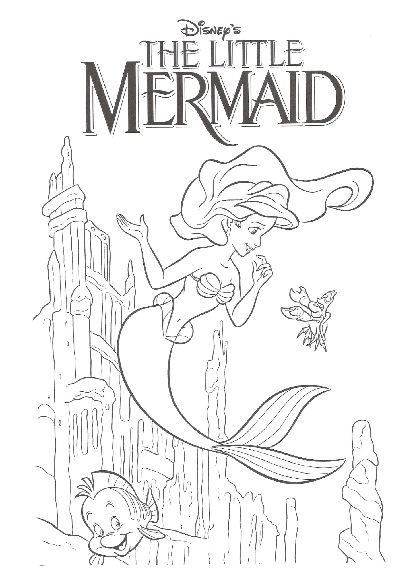 the little mermaid coloring pages princess coloring pages 37 - Little Mermaid Coloring Pages