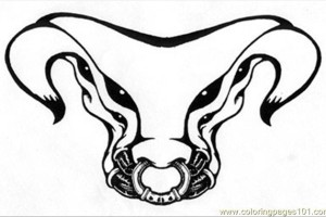 Bull Tattoo coloring pages