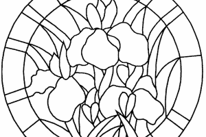 Circle Stained Glass Coloring pages
