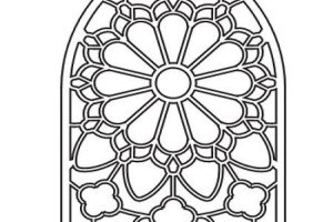 Glass Stained Glass Coloring pages