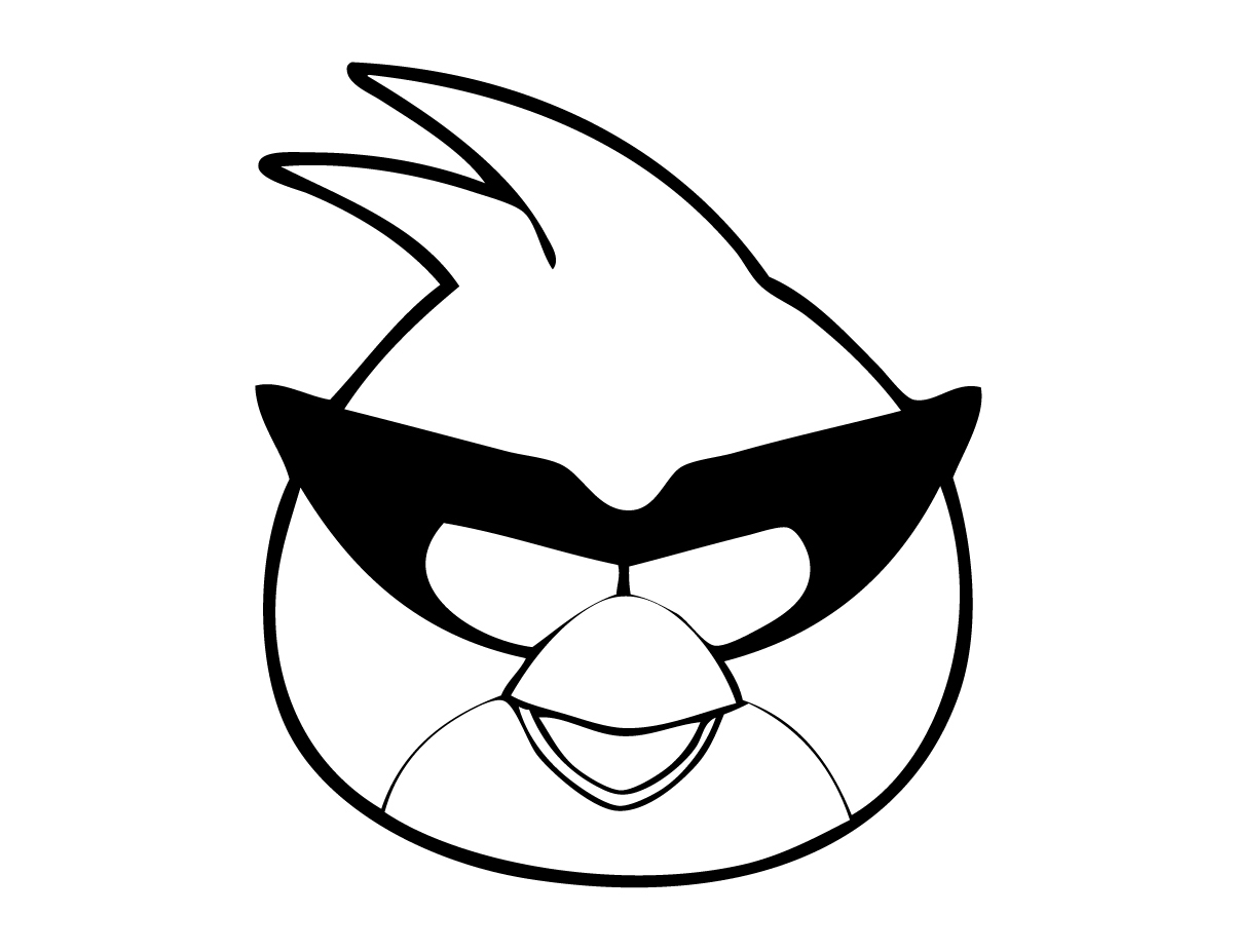 Hero Angry Birds Coloring Pages