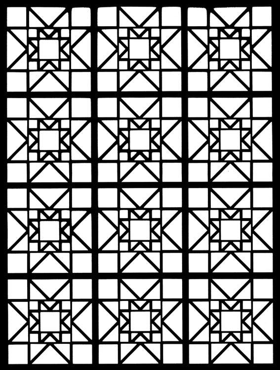 Stained Glass Coloring pages Squares Free Printable Coloring Pages ...