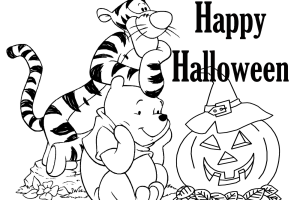 Halloween coloring pages | Winnie the poo
