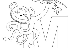 Monkey Coloring Pages | Love coloring pages | #11