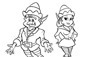 Little Helpers Coloring Pages Christmas | Coloring pages for Christmas | Christmas trees coloring pages