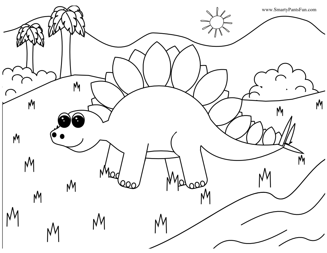 Cool Dinosaur Coloring Pages