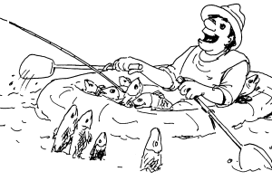 Fishing Coloring page | Coloring pages to print | Color Printing |