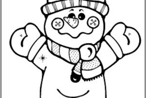 Little snowman Winter Coloring Pages | coloring pages for kids |