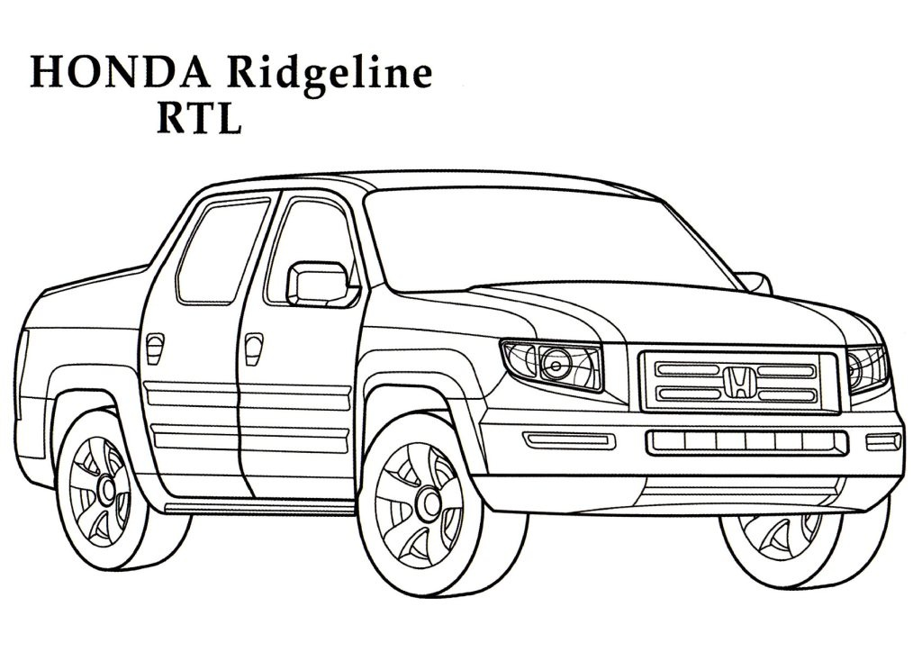 Honda ridgeline rtl cars coloring pages kids coloring for Kids coloring pages cars