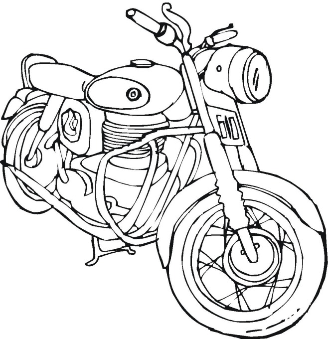 Motorcycle Honda Coloring Pages | Kids Coloring pages