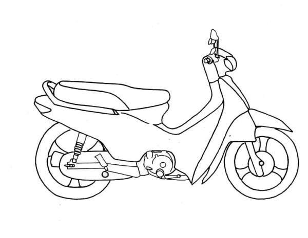 Motorcycle Honda Scooter Coloring Pages | Kids Coloring pages