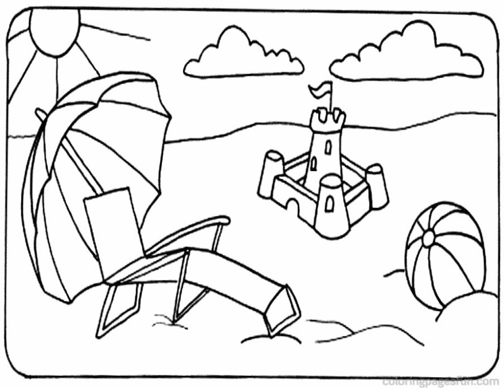 Best Summer Beach Kids Coloring Pages