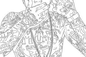 Lil Wayne Coloring Sheets for Kids TATTOO