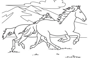 Race Horses Color Pictures | Print Coloring pages | #6