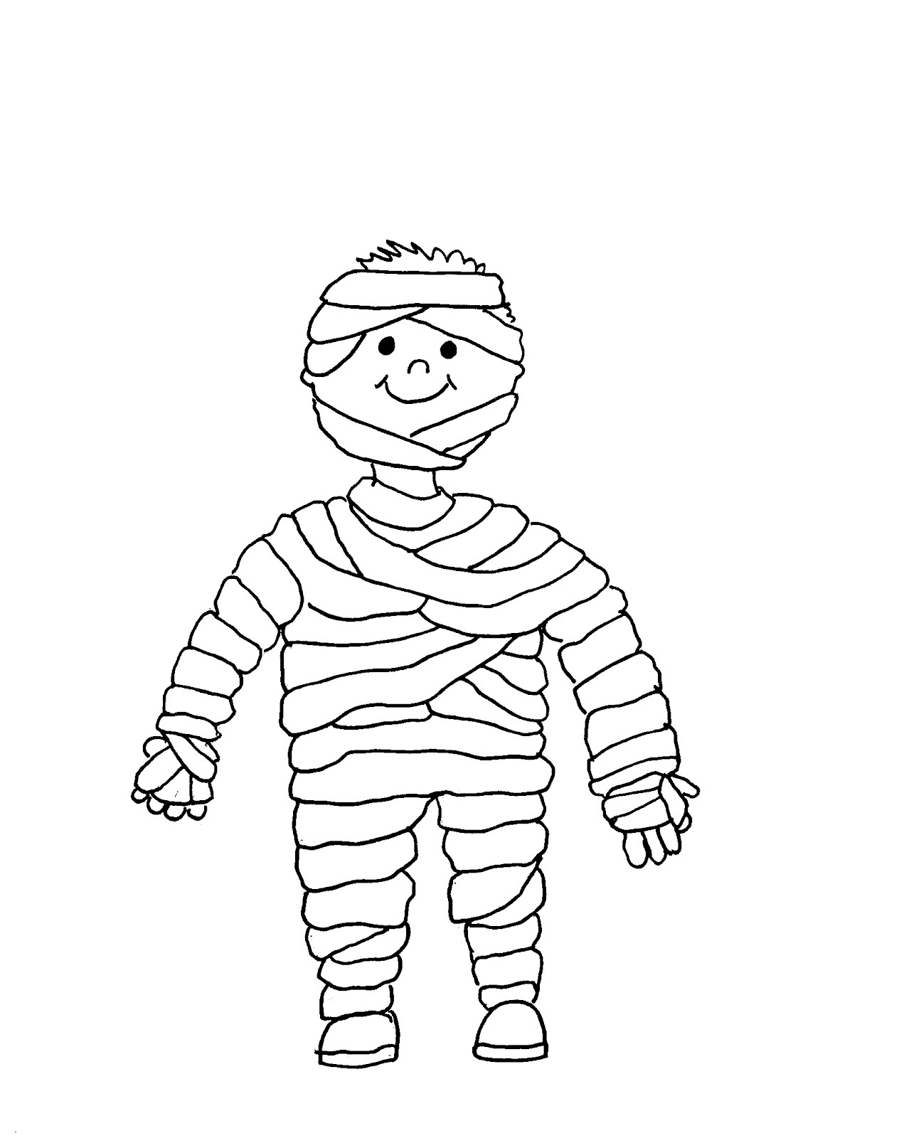 Cute Mummy Print Coloring Pages