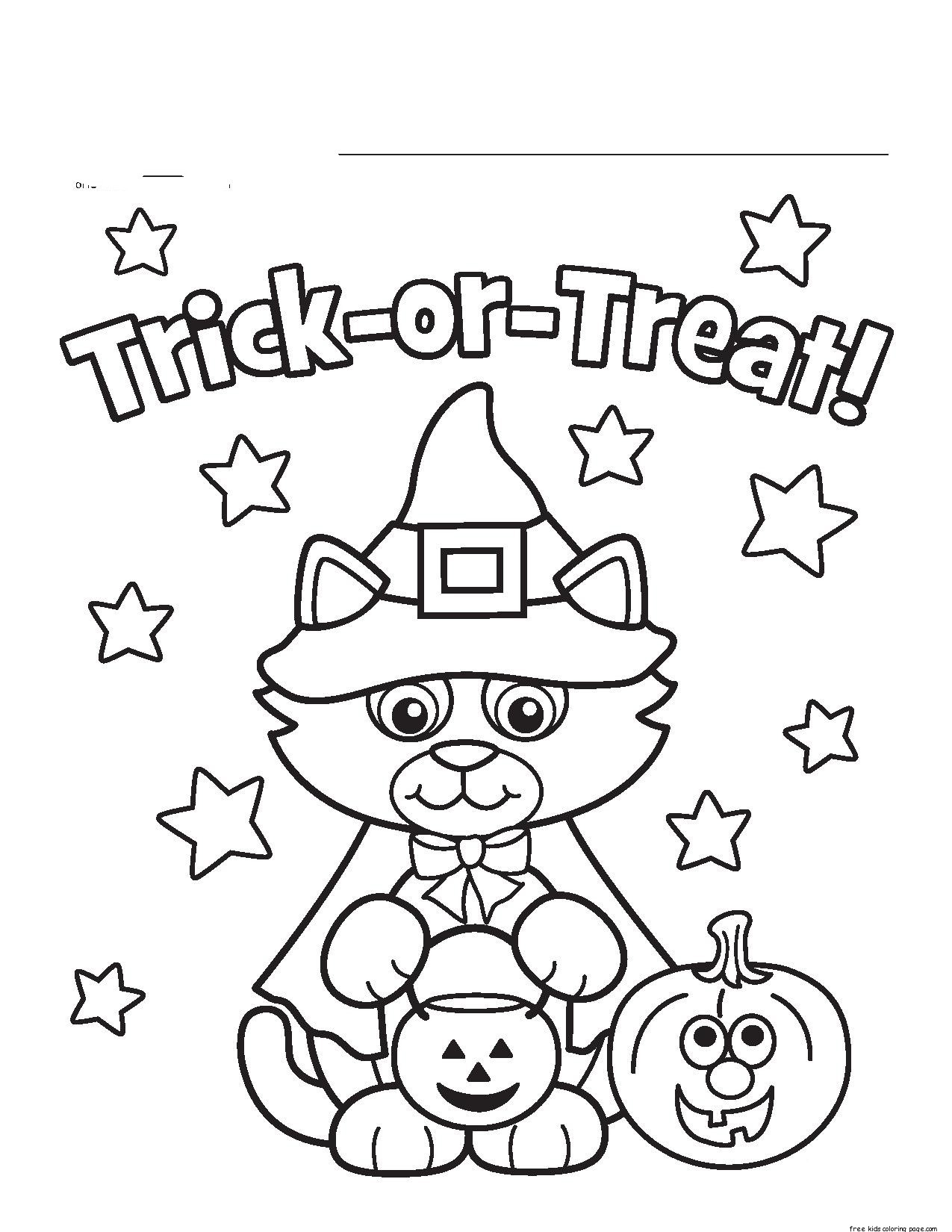 Little Cat Halloween Costumes Print Coloring Pages Free Printable Coloring Pages For Kids ...