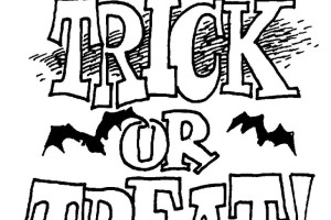 Trick or Treat Bag FEAR Halloween Coloring Pages