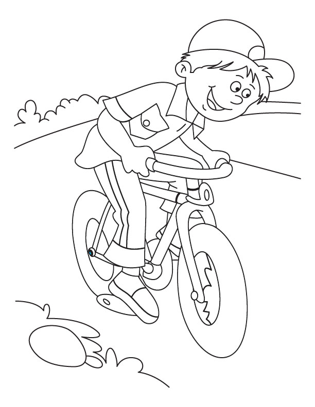 Little Kid Mountain Bike Coloring Pages