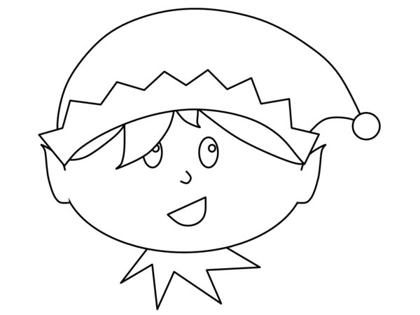 Little Boy Christmas Elf Print Coloring Pages Free Printable