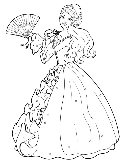 Barbie Princess Coloring Pages Free Printable Coloring