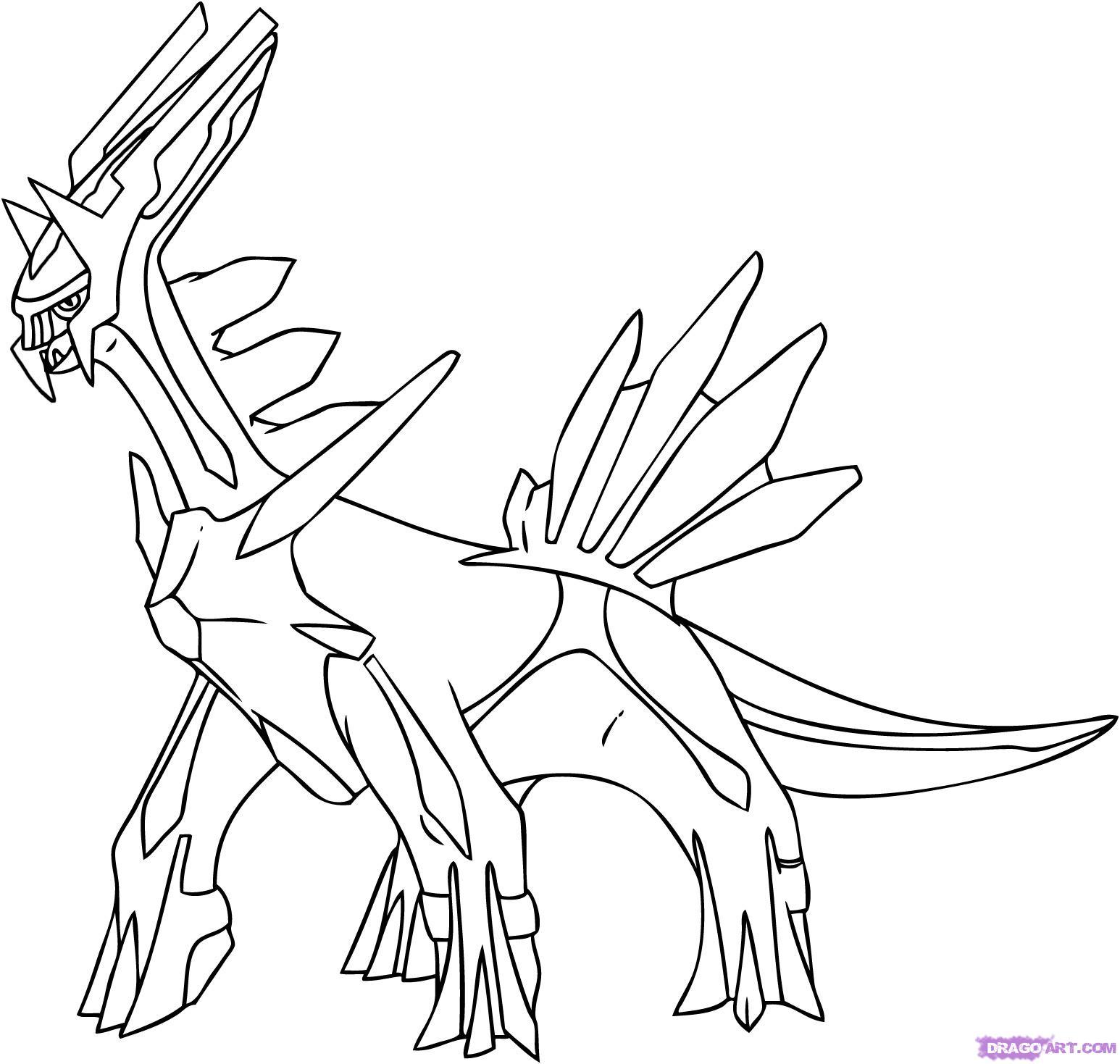 Pokemon Arceus Kleurplaten.Dialga Coloring Pictures Murderthestout