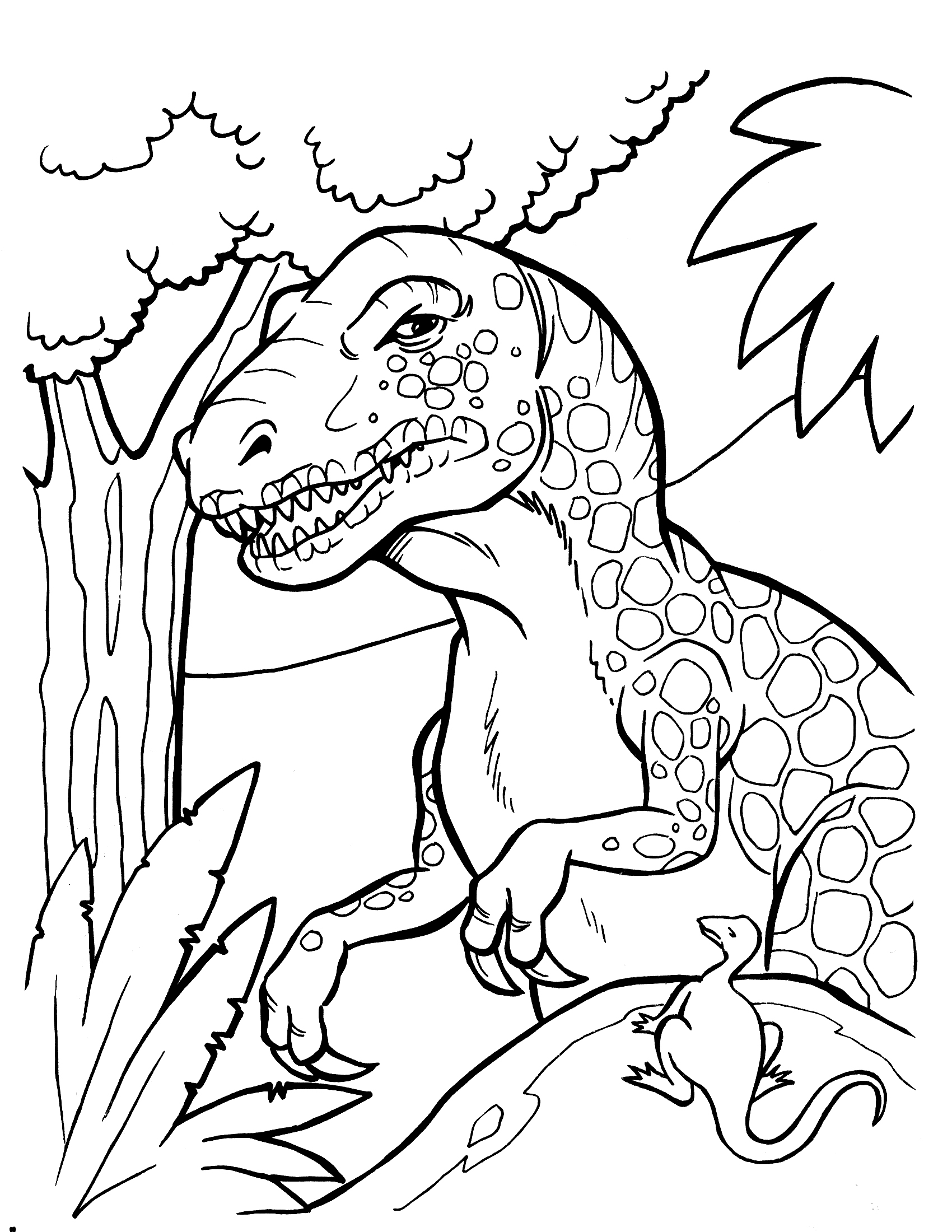 Realistic Dinosaur Coloring Pages To Print
