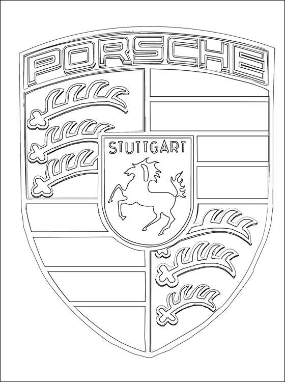 gambar porsche cars coloring pages print logo di rebanas