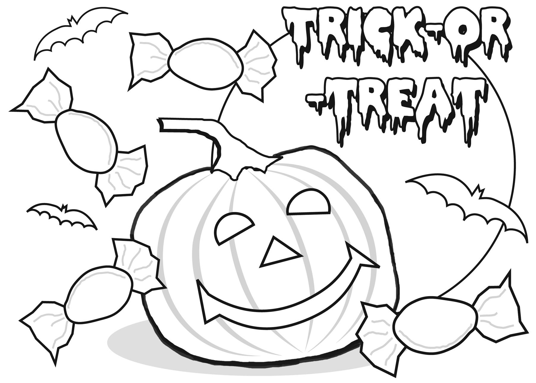 Trick Or Treat Printable Coloring