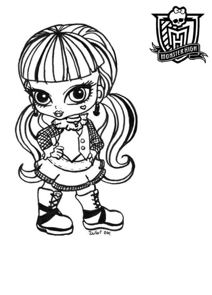 Monster High Baby Coloring Pages Games