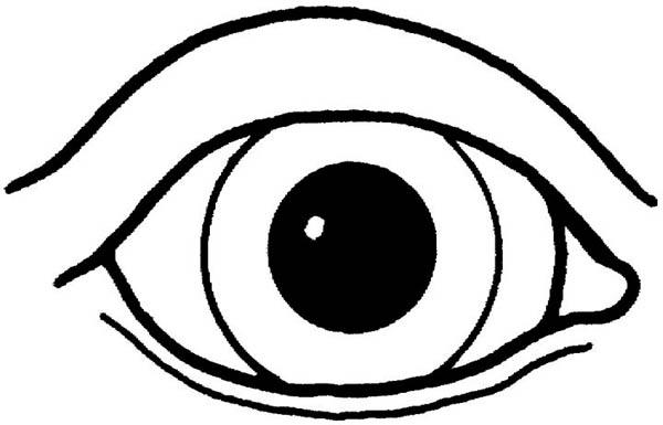 eyeball coloring page Coloring