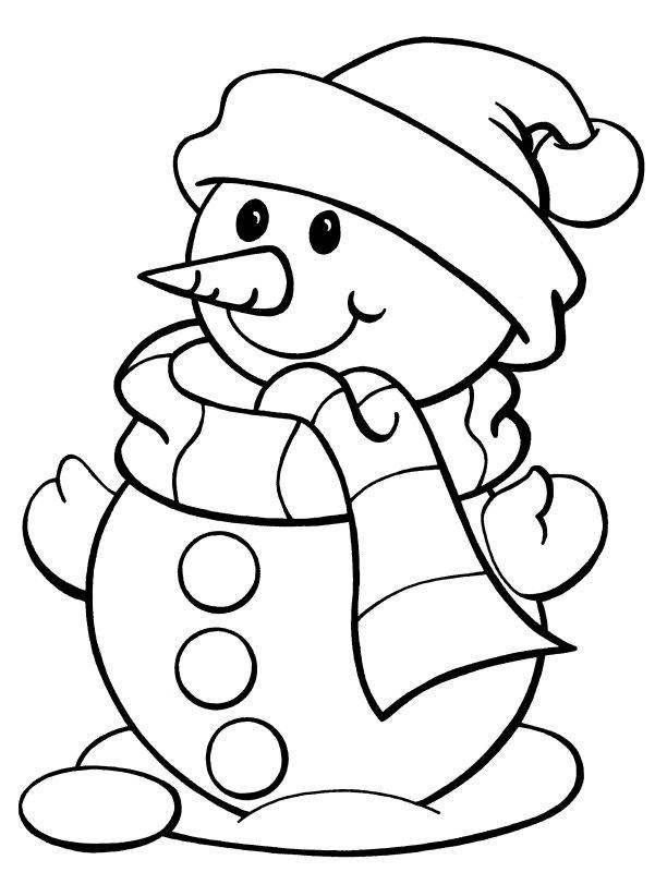 snowman coloring page Murderthestout